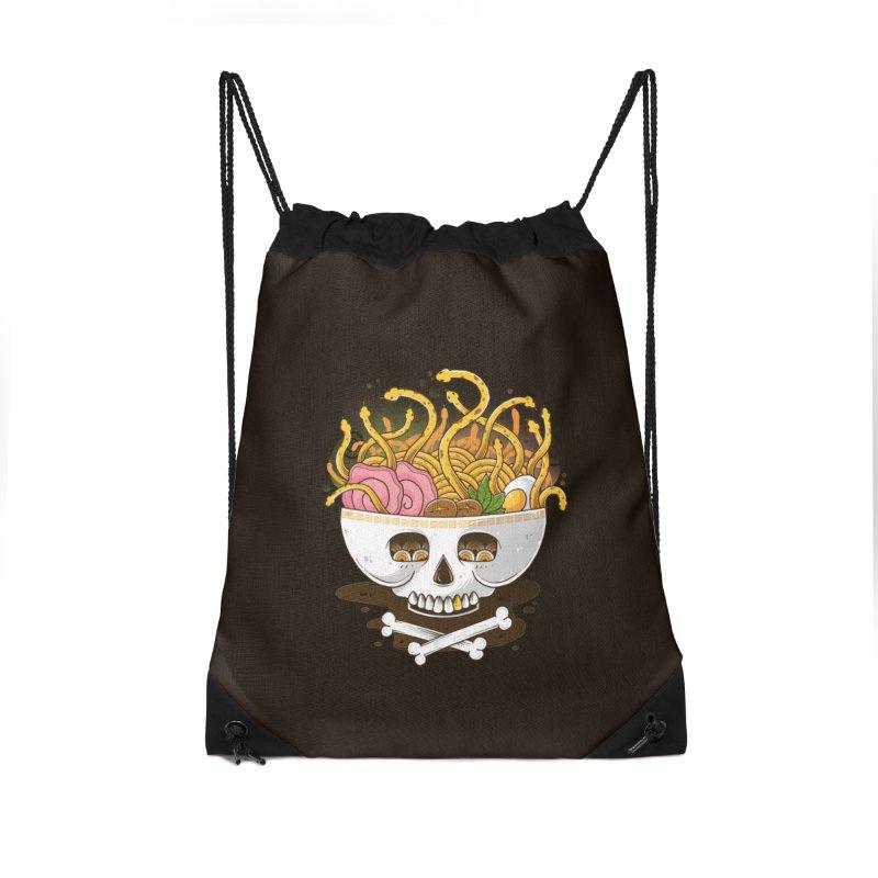 Ramen Medusa Accessories Drawstring Bag Bag by godzillarge's Artist Shop