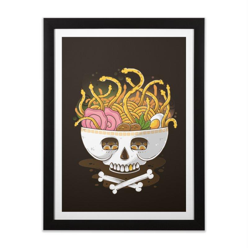 Ramen Medusa Home Framed Fine Art Print by godzillarge's Artist Shop