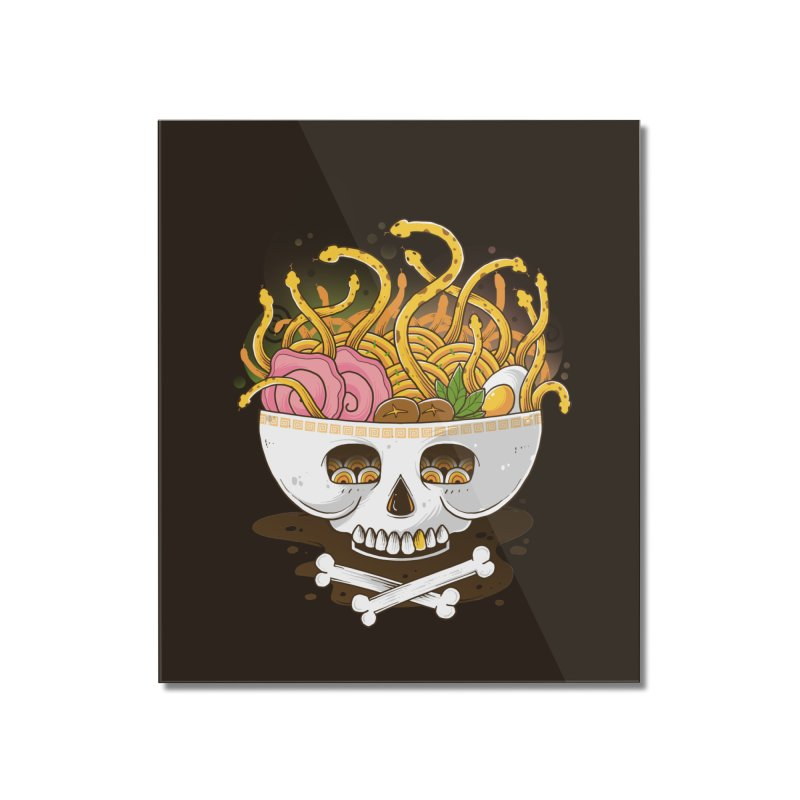Ramen Medusa Home Mounted Acrylic Print by godzillarge's Artist Shop