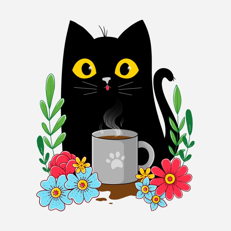 Coffee Cat Kids T-Shirt by godzillarge's Artist Shop