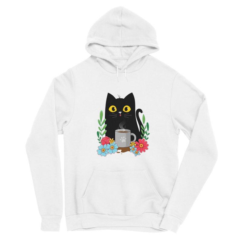 Coffee Cat Women's Pullover Hoody by godzillarge's Artist Shop