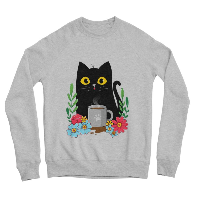 Coffee Cat Men's Sponge Fleece Sweatshirt by godzillarge's Artist Shop