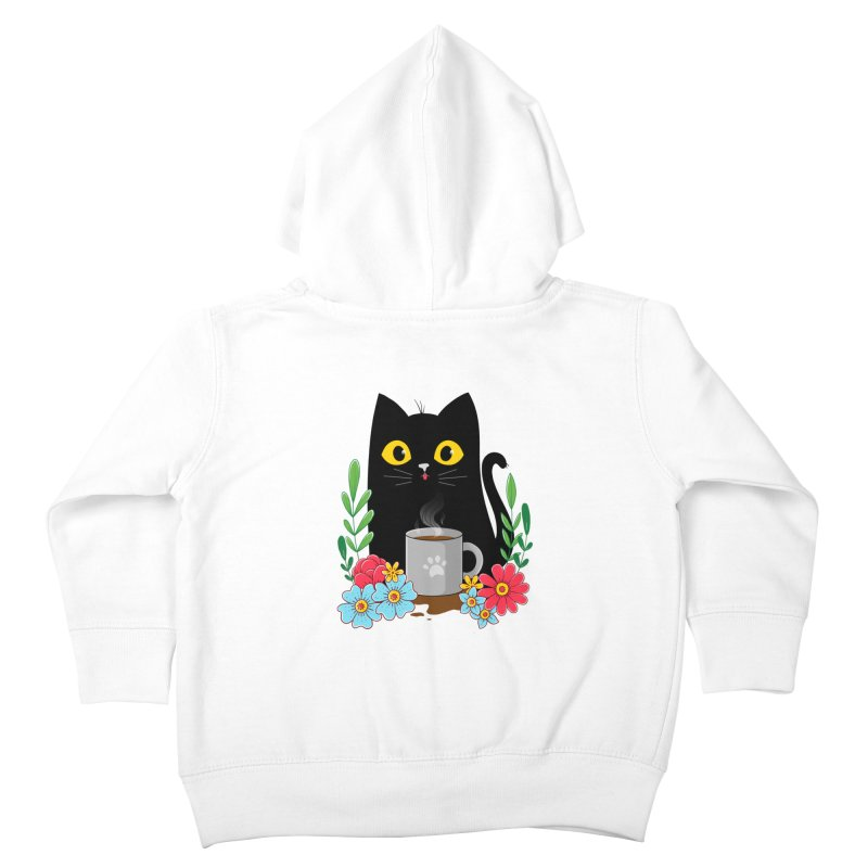 Coffee Cat Kids Toddler Zip-Up Hoody by godzillarge's Artist Shop