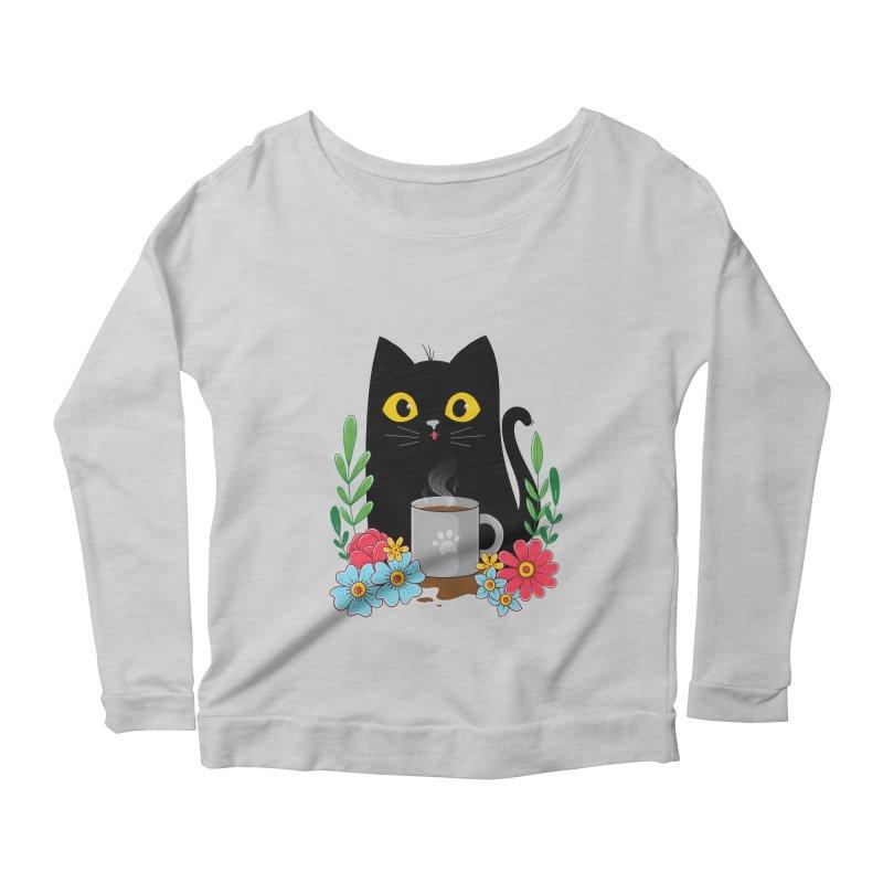 Coffee Cat Women's Longsleeve T-Shirt by godzillarge's Artist Shop