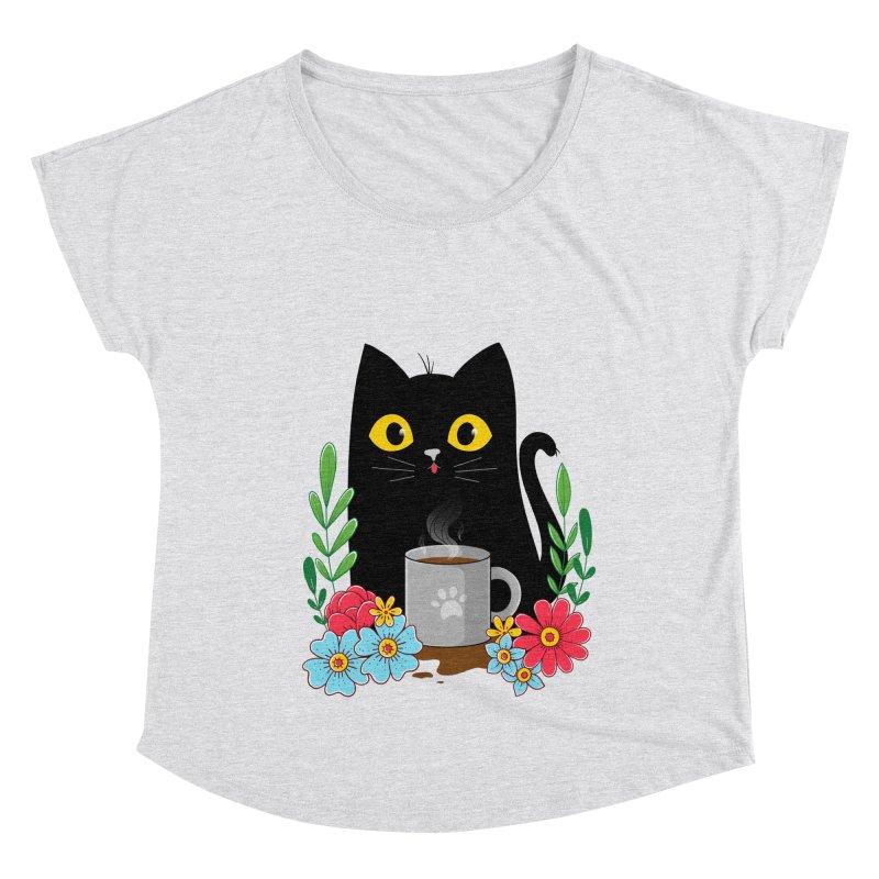 Coffee Cat Women's Scoop Neck by godzillarge's Artist Shop