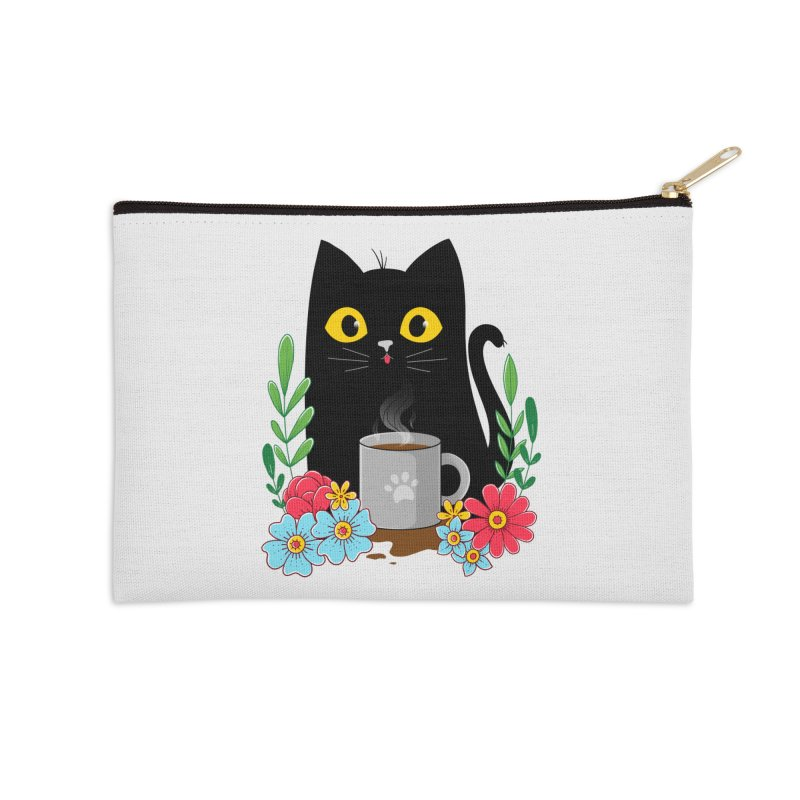 Coffee Cat Accessories Zip Pouch by godzillarge's Artist Shop