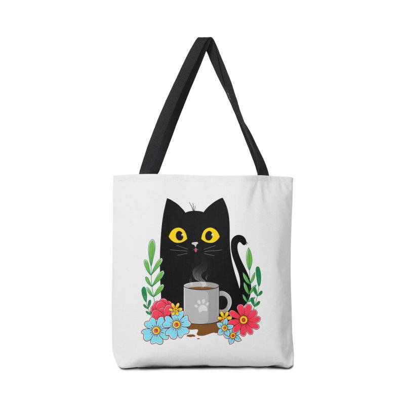 Coffee Cat Accessories Tote Bag Bag by godzillarge's Artist Shop