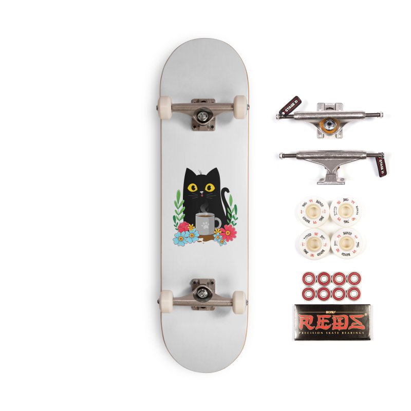 Coffee Cat Accessories Complete - Pro Skateboard by godzillarge's Artist Shop