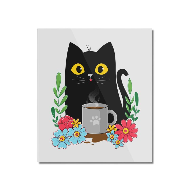 Coffee Cat Home Mounted Acrylic Print by godzillarge's Artist Shop