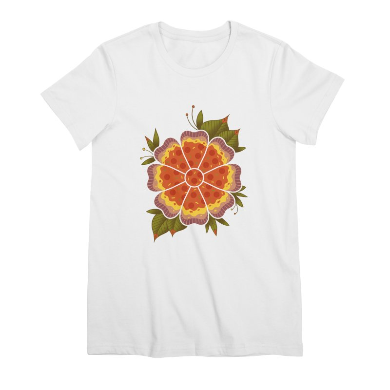 Pizza Flower Women's T-Shirt by godzillarge's Artist Shop
