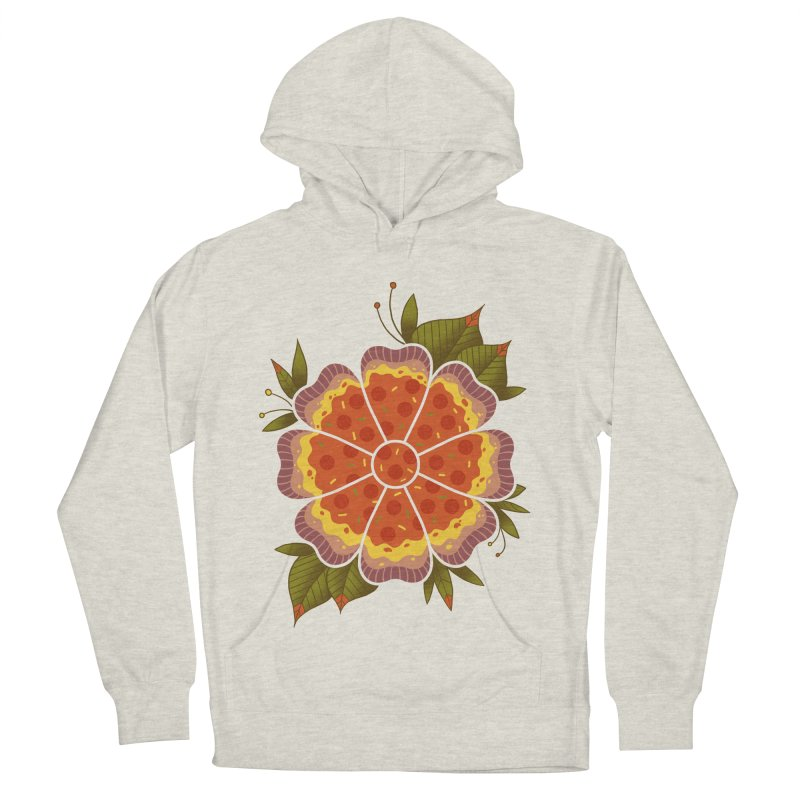 Pizza Flower Women's French Terry Pullover Hoody by godzillarge's Artist Shop