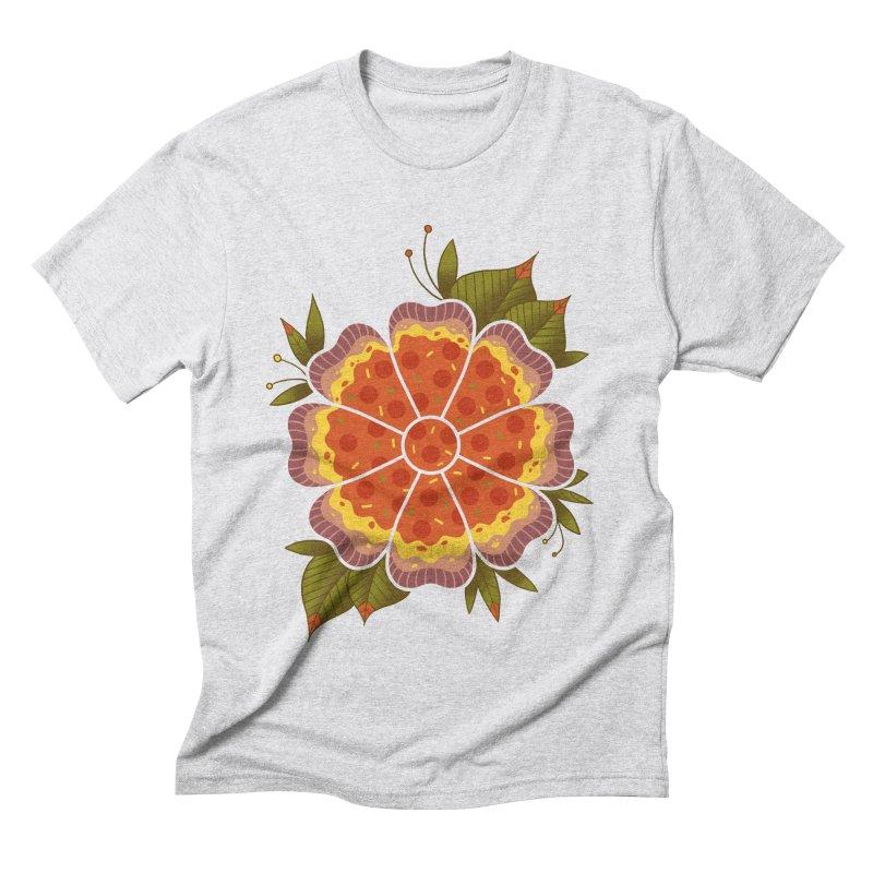Pizza Flower Men's Triblend T-Shirt by godzillarge's Artist Shop