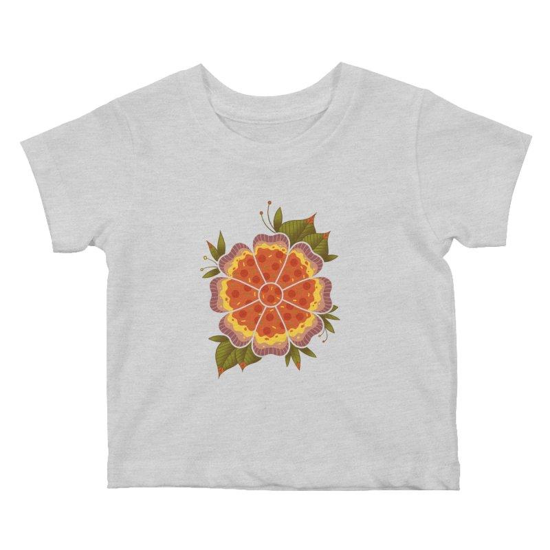 Pizza Flower Kids Baby T-Shirt by godzillarge's Artist Shop