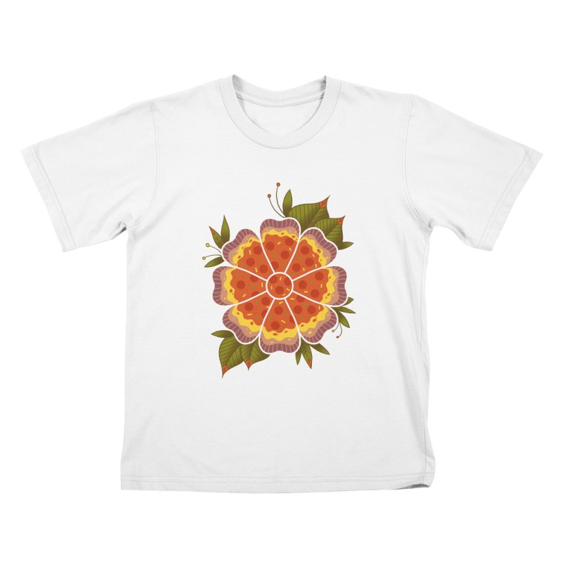 Pizza Flower Kids T-Shirt by godzillarge's Artist Shop