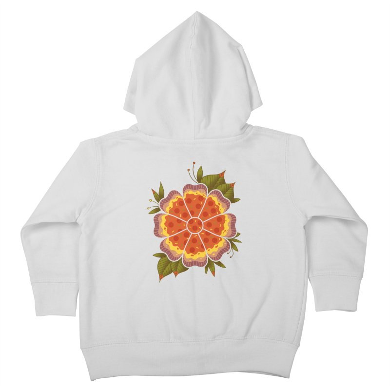 Pizza Flower Kids Toddler Zip-Up Hoody by godzillarge's Artist Shop