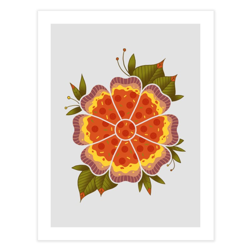 Pizza Flower Home Fine Art Print by godzillarge's Artist Shop