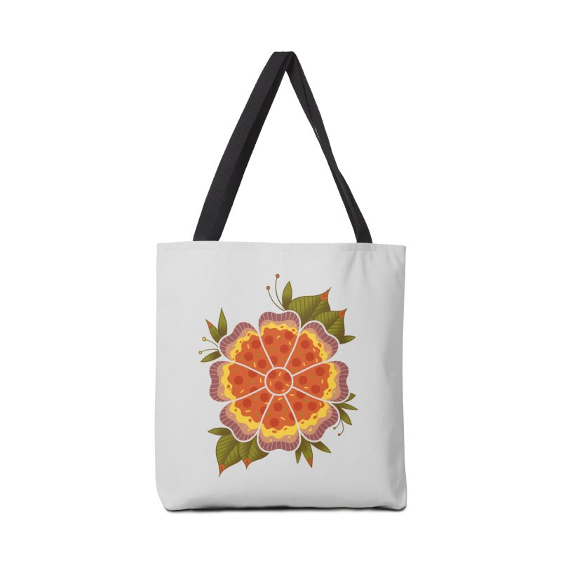 Pizza Flower Accessories Bag by godzillarge's Artist Shop