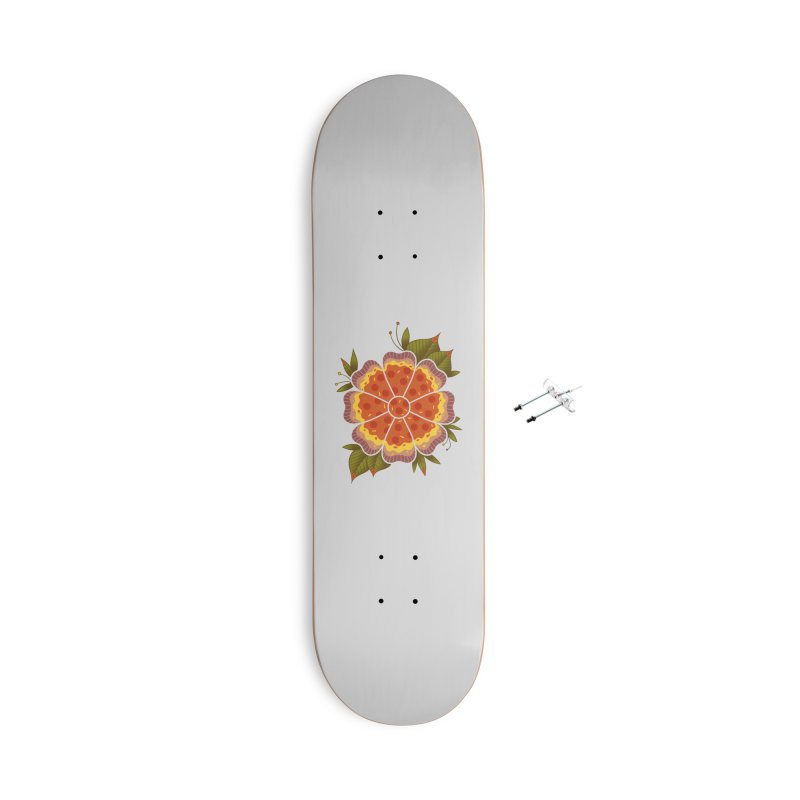 Pizza Flower Accessories With Hanging Hardware Skateboard by godzillarge's Artist Shop