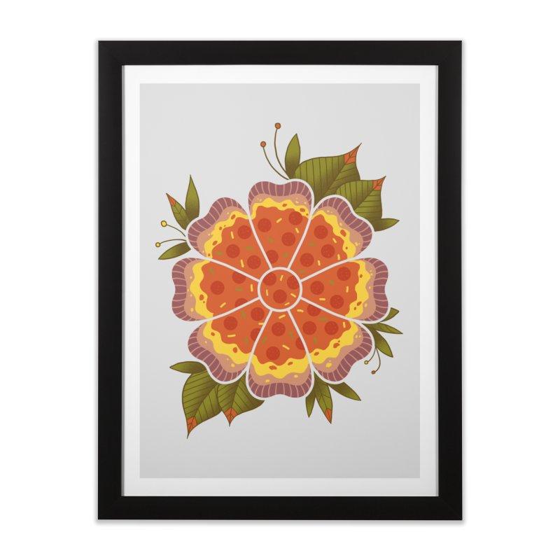 Pizza Flower Home Framed Fine Art Print by godzillarge's Artist Shop