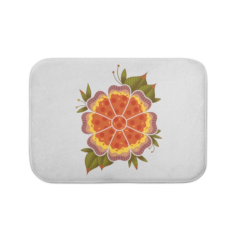 Pizza Flower Home Bath Mat by godzillarge's Artist Shop