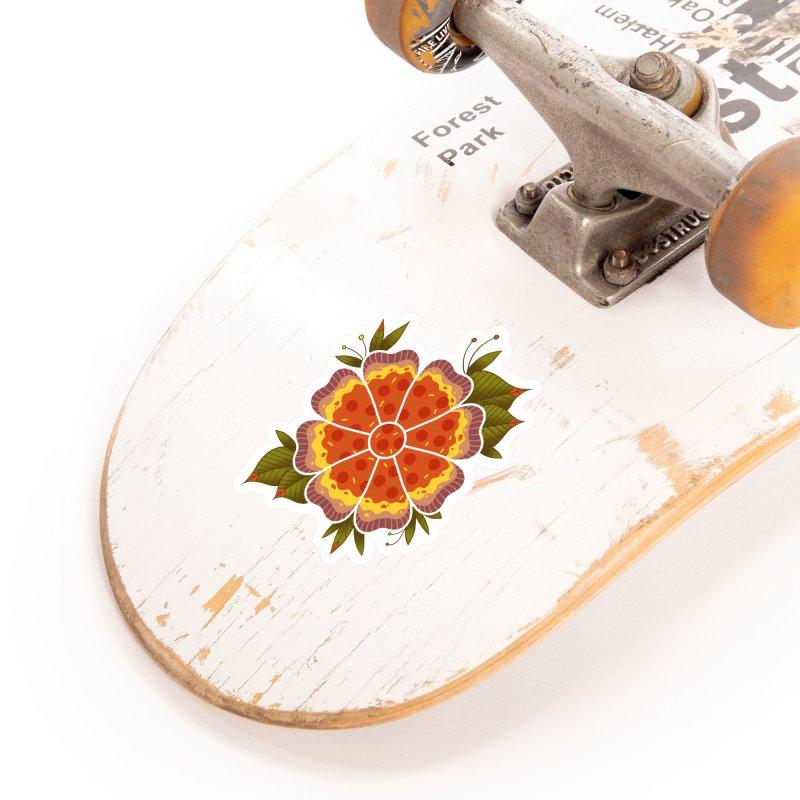Pizza Flower Accessories Sticker by godzillarge's Artist Shop