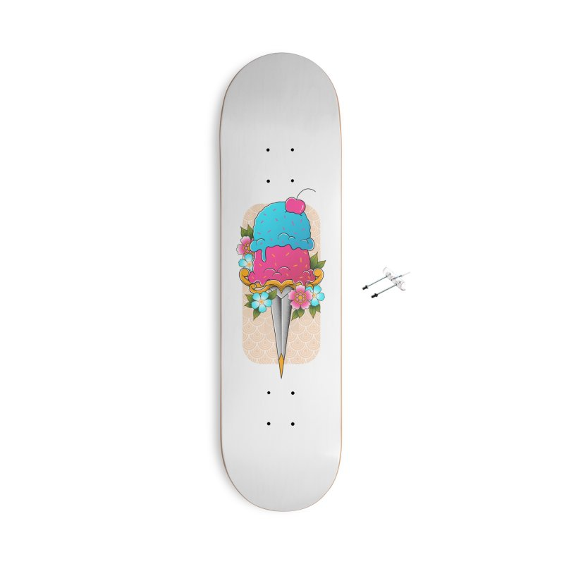 Deadly Dessert Accessories With Hanging Hardware Skateboard by godzillarge's Artist Shop