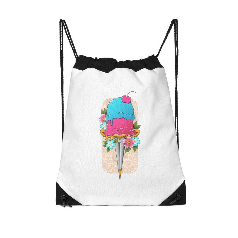 Deadly Dessert Accessories Drawstring Bag Bag by godzillarge's Artist Shop