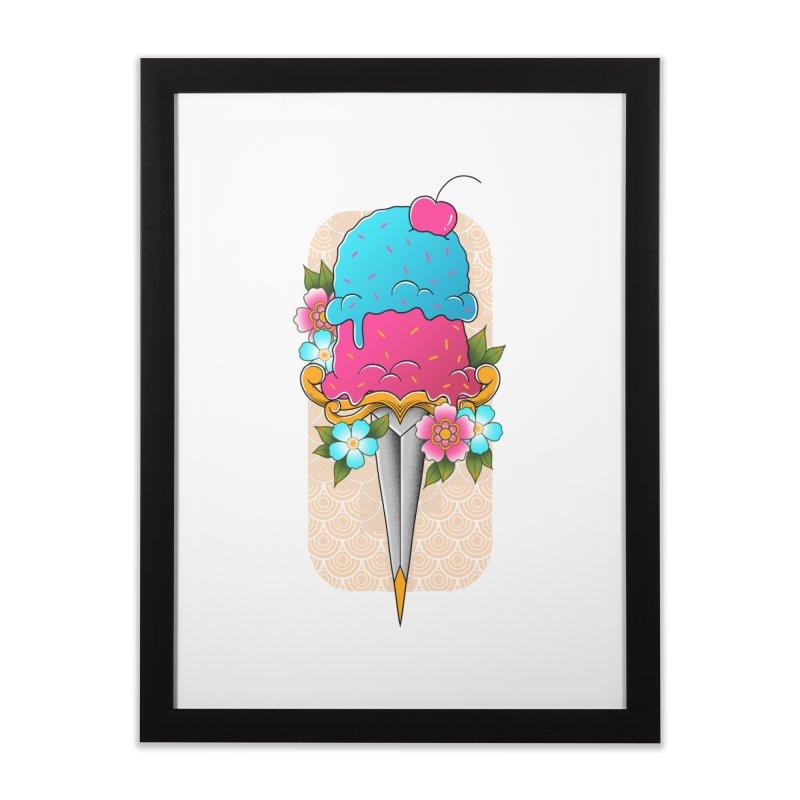 Deadly Dessert Home Framed Fine Art Print by godzillarge's Artist Shop