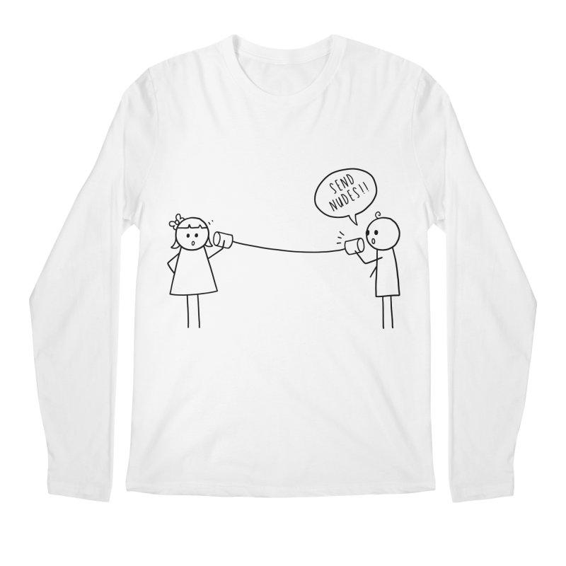 Send Nudes Men's Regular Longsleeve T-Shirt by godzillarge's Artist Shop