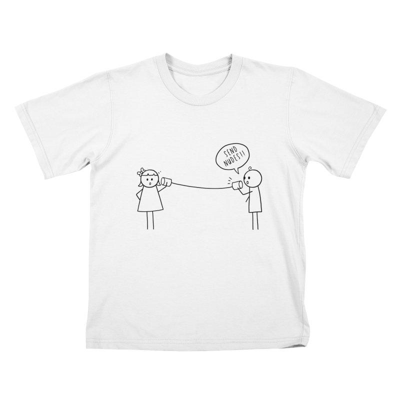Send Nudes Kids T-Shirt by godzillarge's Artist Shop