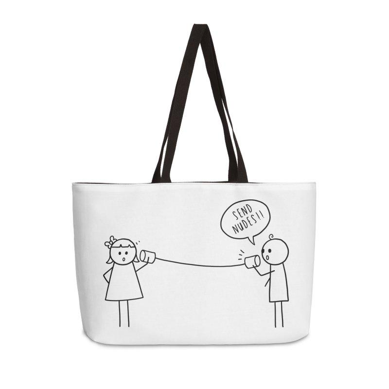 Send Nudes Accessories Weekender Bag Bag by godzillarge's Artist Shop