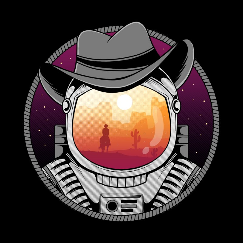Cosmic Cowboy Kids T-Shirt by godzillarge's Artist Shop