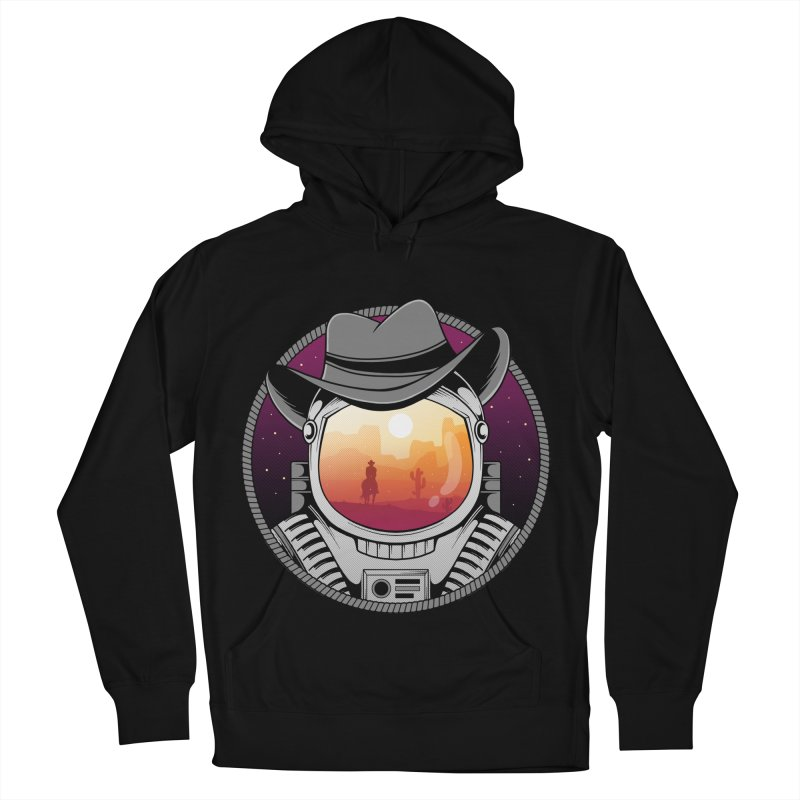 Cosmic Cowboy Women's French Terry Pullover Hoody by godzillarge's Artist Shop