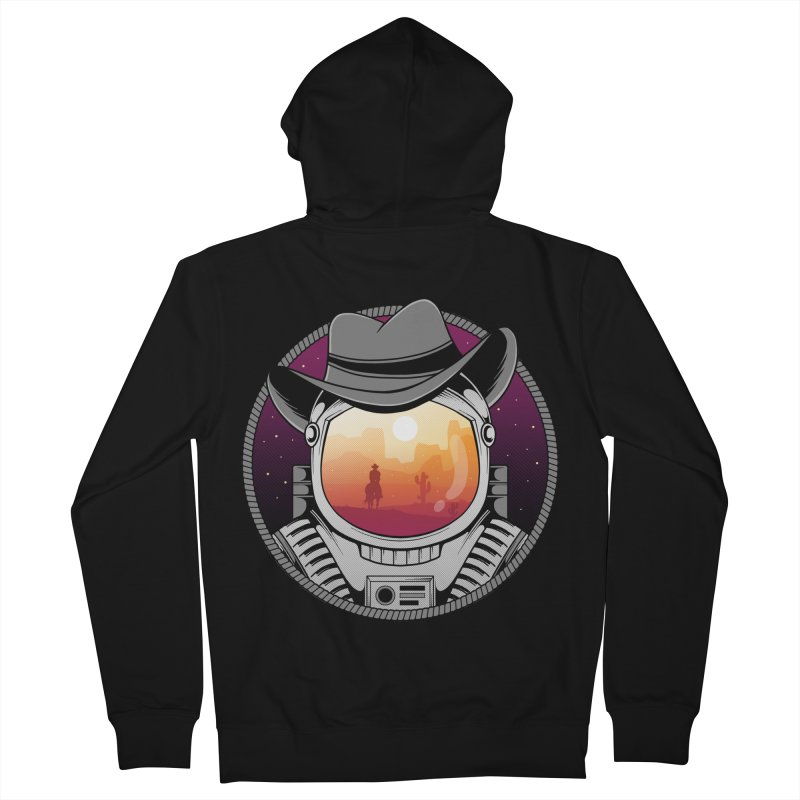 Cosmic Cowboy Men's Zip-Up Hoody by godzillarge's Artist Shop