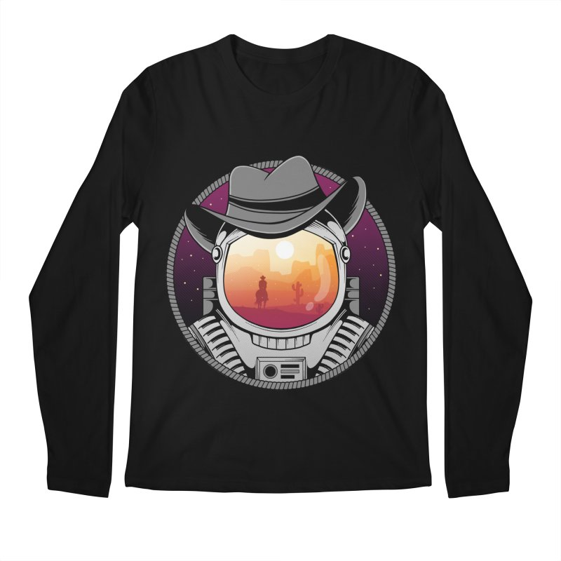 Cosmic Cowboy Men's Regular Longsleeve T-Shirt by godzillarge's Artist Shop