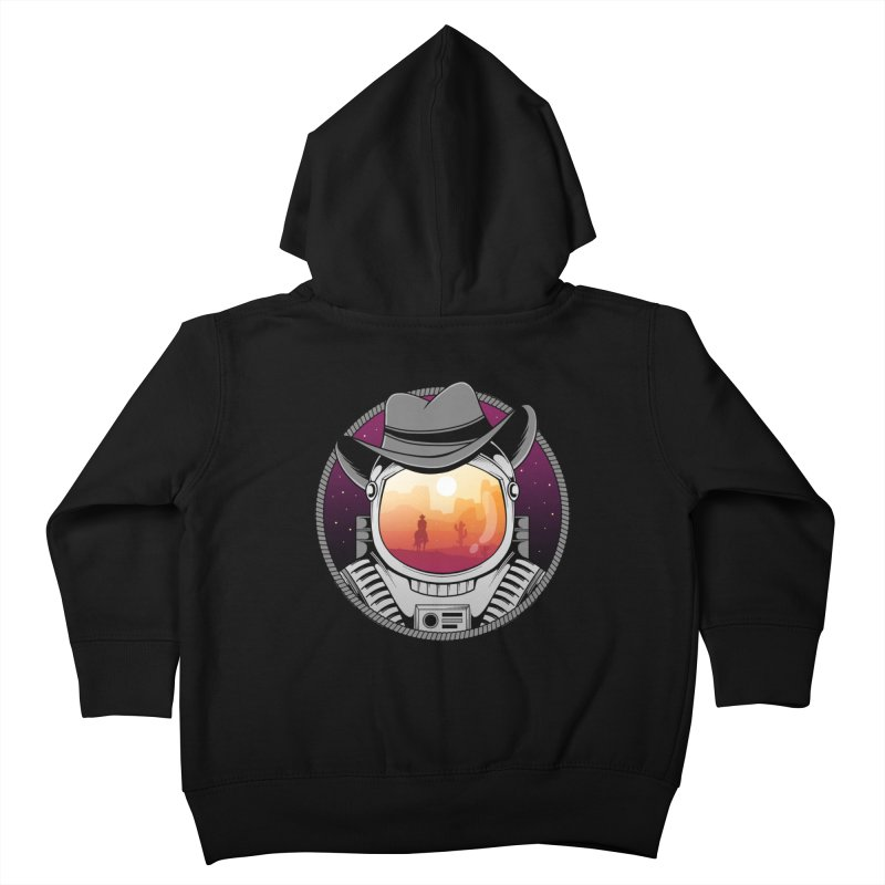 Cosmic Cowboy Kids Toddler Zip-Up Hoody by godzillarge's Artist Shop