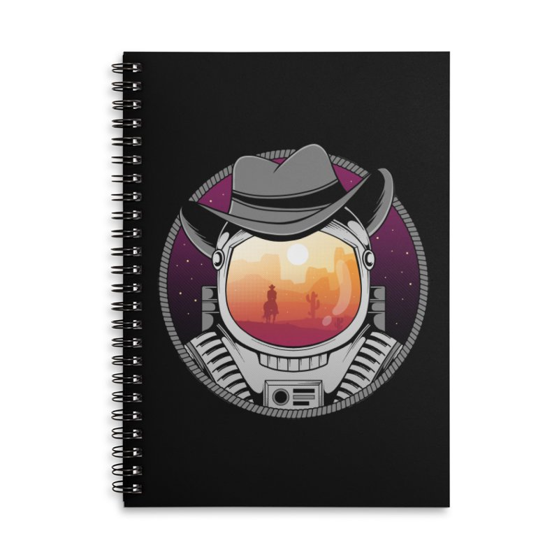Cosmic Cowboy Accessories Lined Spiral Notebook by godzillarge's Artist Shop