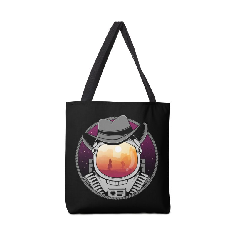 Cosmic Cowboy Accessories Tote Bag Bag by godzillarge's Artist Shop