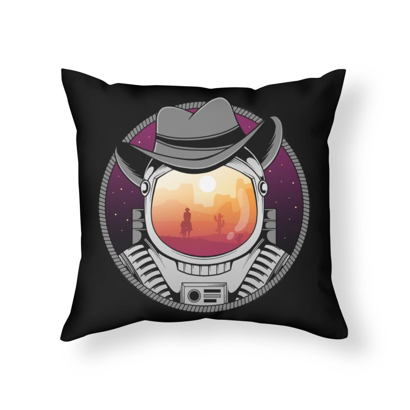 Cosmic Cowboy Home Throw Pillow by godzillarge's Artist Shop