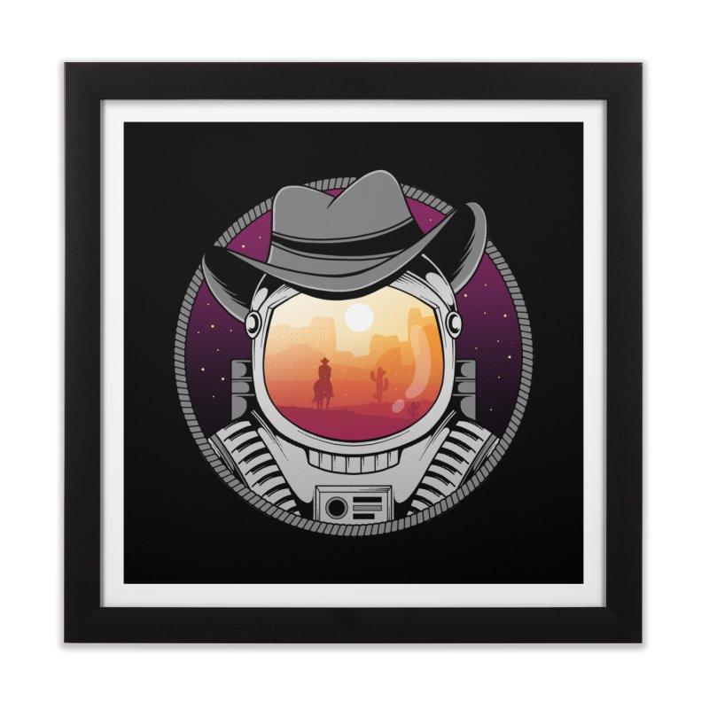 Cosmic Cowboy Home Framed Fine Art Print by godzillarge's Artist Shop
