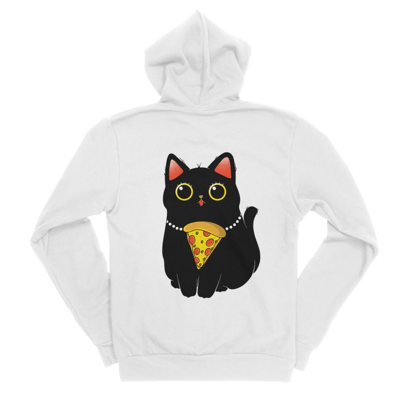 Pizza Protector Women's Zip-Up Hoody by godzillarge's Artist Shop