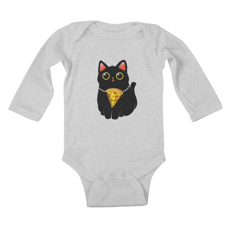 Pizza Protector Kids Baby Longsleeve Bodysuit by godzillarge's Artist Shop