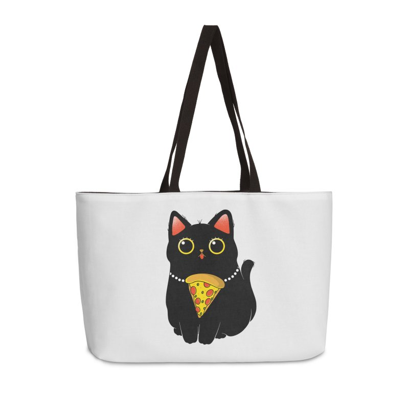 Pizza Protector Accessories Weekender Bag Bag by godzillarge's Artist Shop