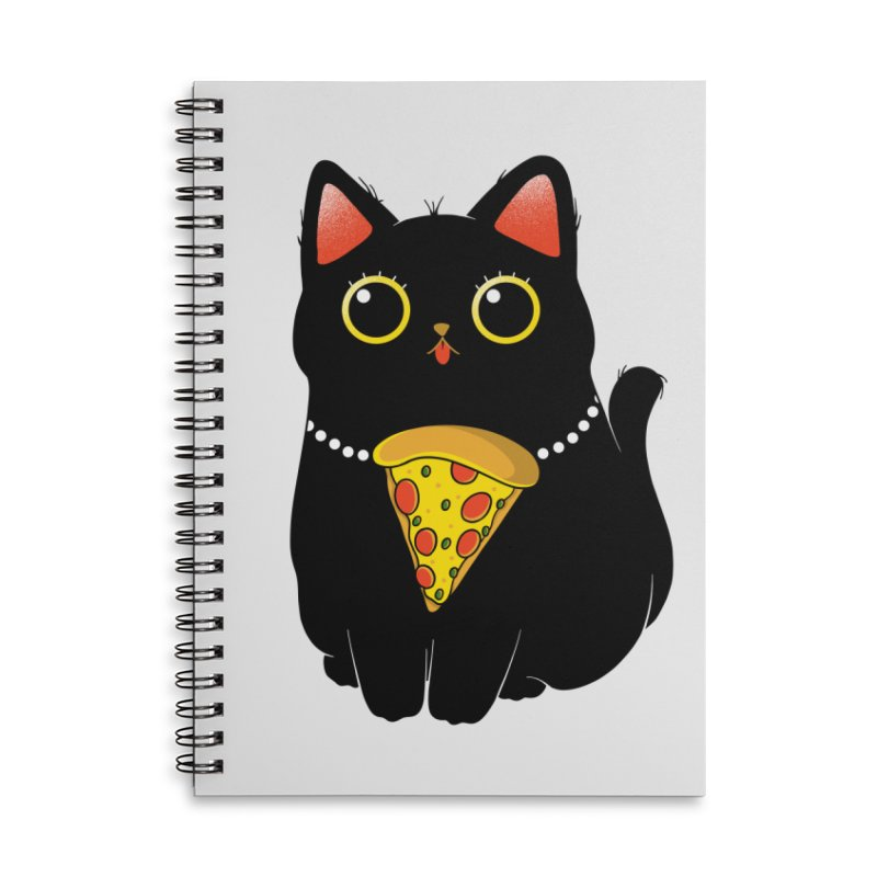 Pizza Protector Accessories Lined Spiral Notebook by godzillarge's Artist Shop