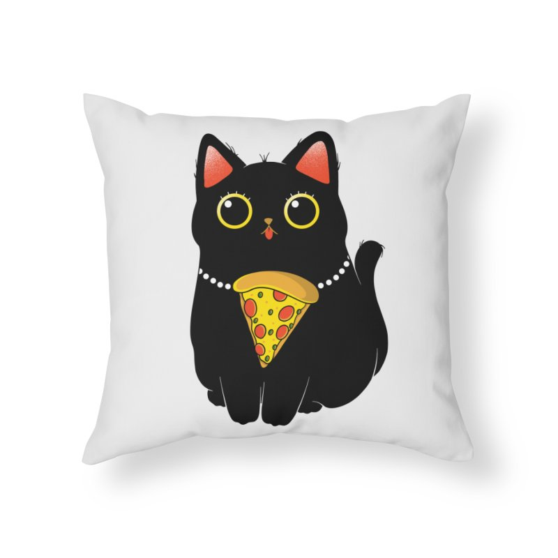Pizza Protector Home Throw Pillow by godzillarge's Artist Shop