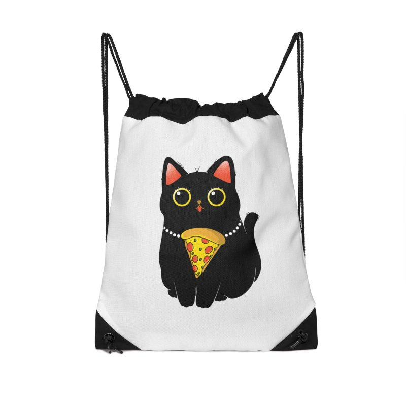 Pizza Protector Accessories Drawstring Bag Bag by godzillarge's Artist Shop