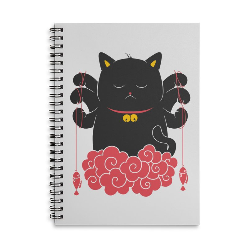 Pawsitive Activity Accessories Lined Spiral Notebook by godzillarge's Artist Shop