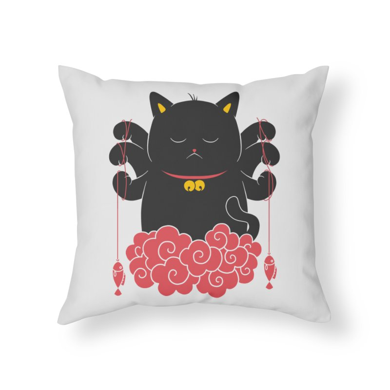 Pawsitive Activity Home Throw Pillow by godzillarge's Artist Shop