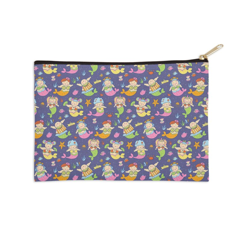 Mermaid Squad Accessories Zip Pouch by godzillarge's Artist Shop
