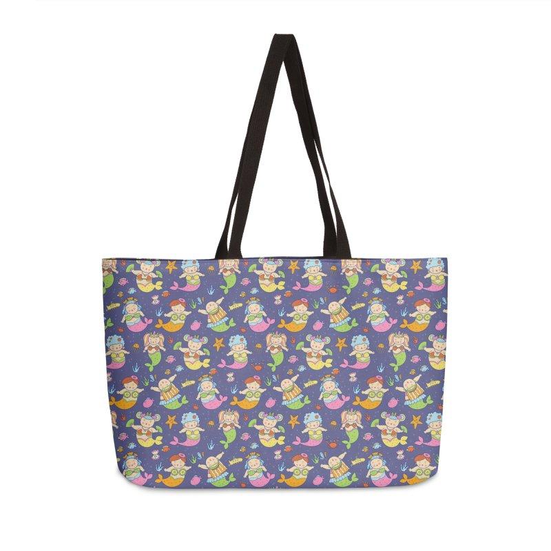 Mermaid Squad Accessories Weekender Bag Bag by godzillarge's Artist Shop